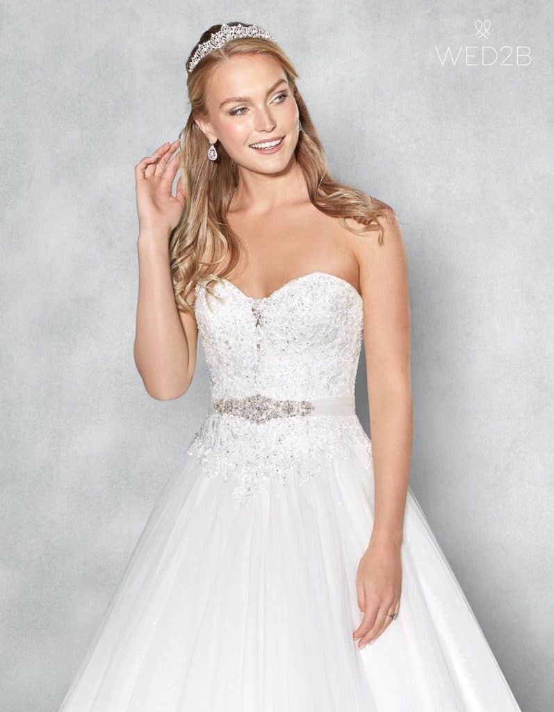 Front crop view of romantic wedding dress Eternity