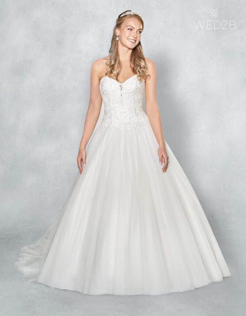 Front view of romantic wedding dress Eternity