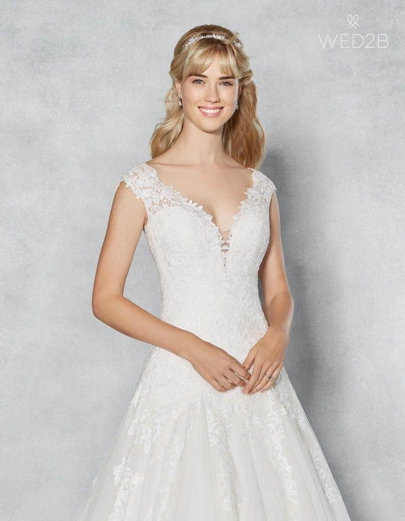 Front crop view of romantic wedding dress Jamie