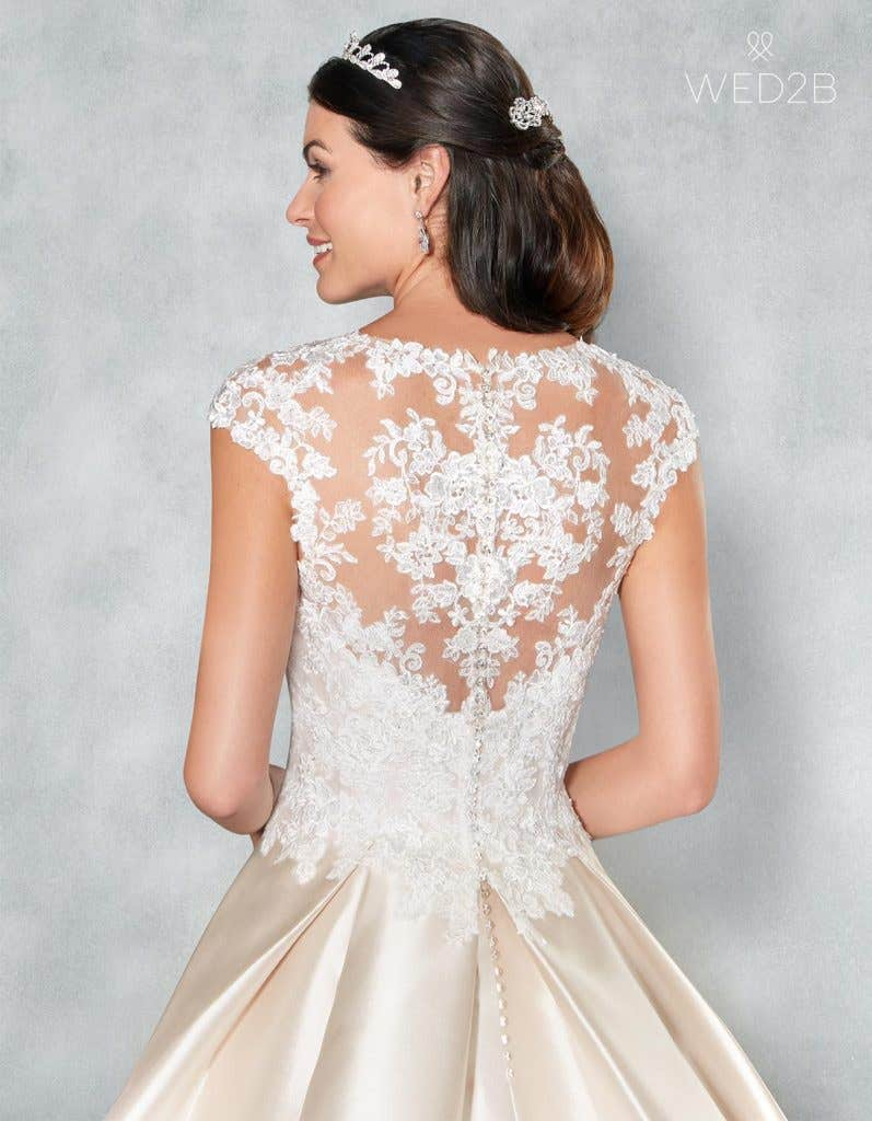 Back Crop view of romantic wedding dress Lucia