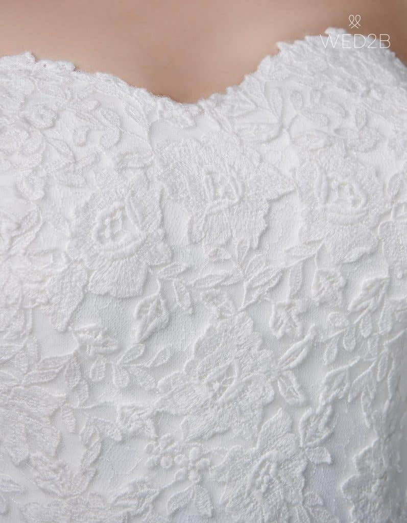 Detail view of traditional wedding dress Winslet