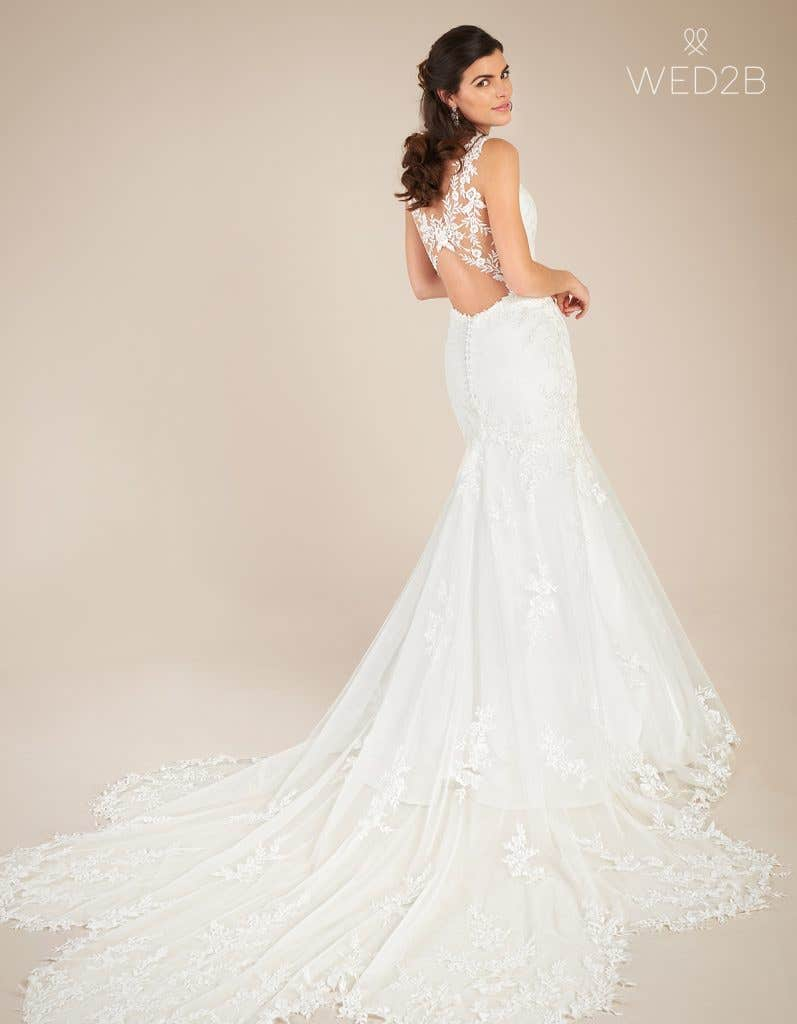 Back view of sweetheart neckline dress Marlow by Viva Bride