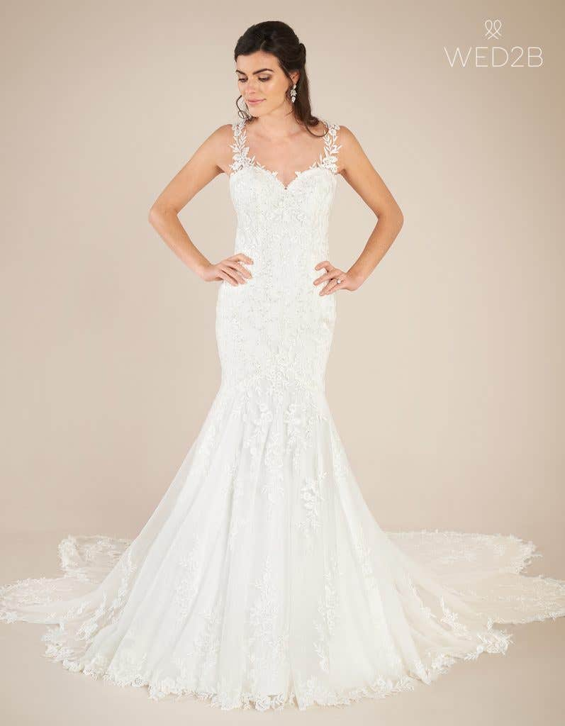 Front view of sweetheart neckline dress Marlow by Viva Bride