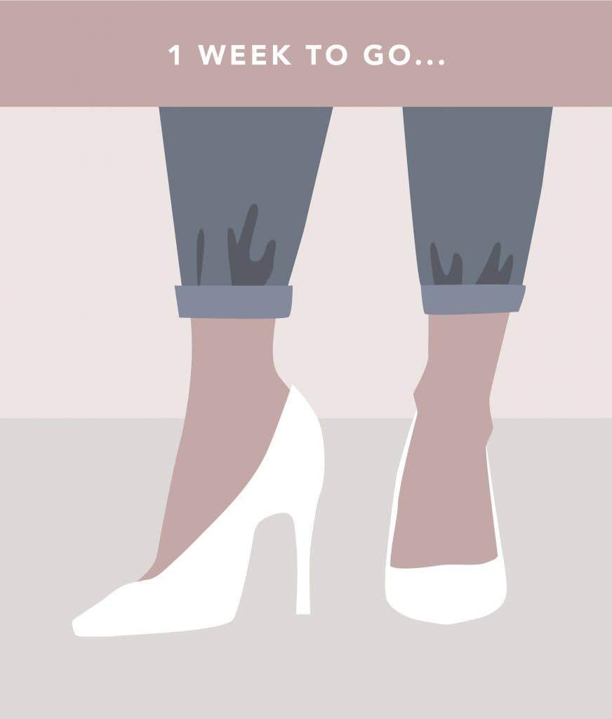 1 week to go on your wedding planning checklist