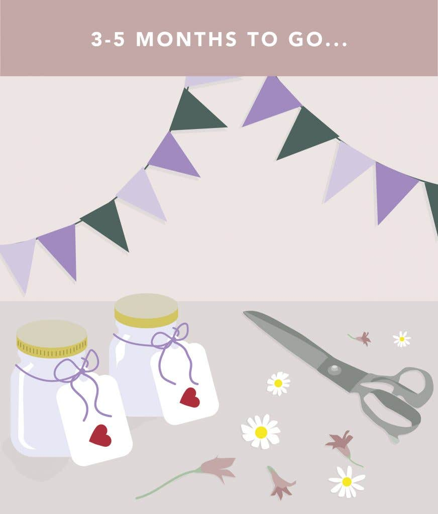 3-5 months to go on your wedding planning checklist