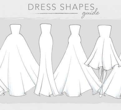 Our essential guide to wedding dress shapes