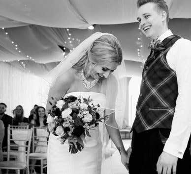 Real Weddings Glasgow: Sam and Graeme's moving humanist wedding