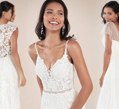Four stylish modern wedding dresses