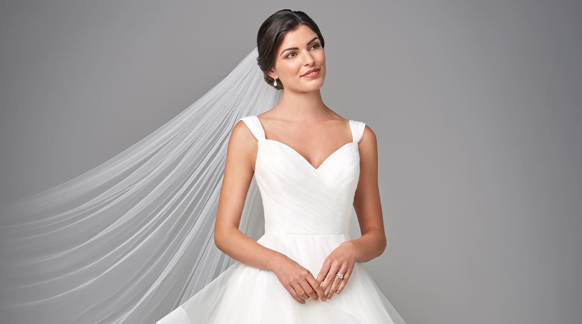 The perfect pleated wedding dress