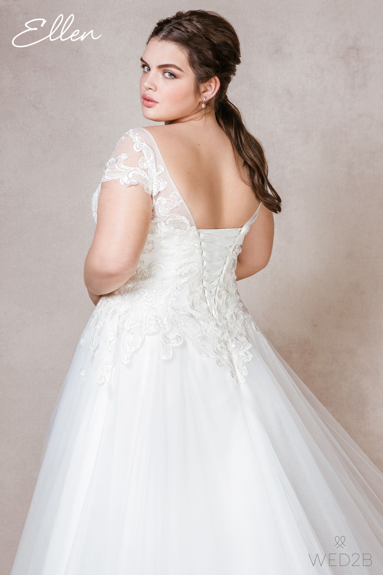 Ellen plus size wedding dress