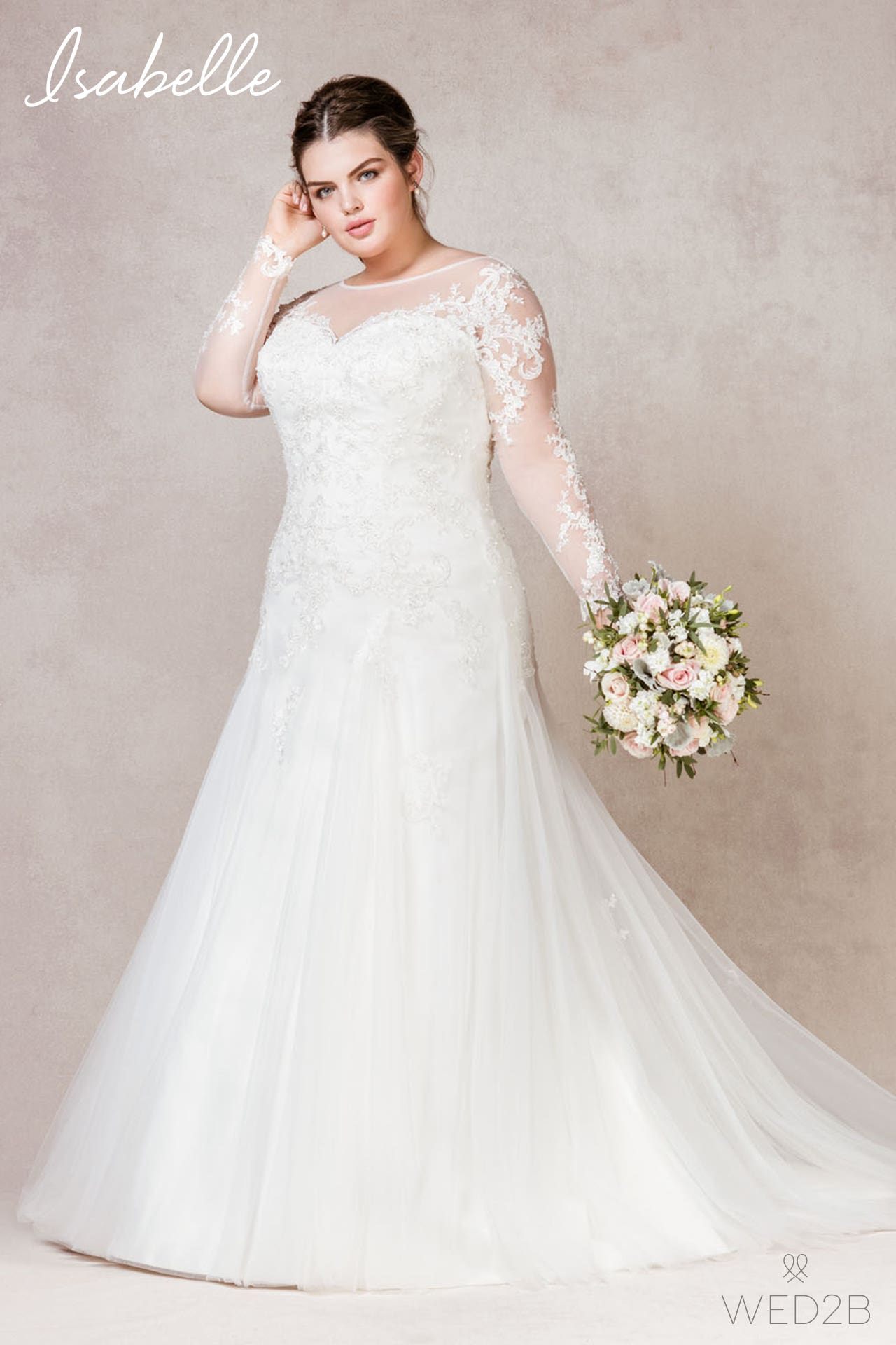 Isabelle plus size wedding dress
