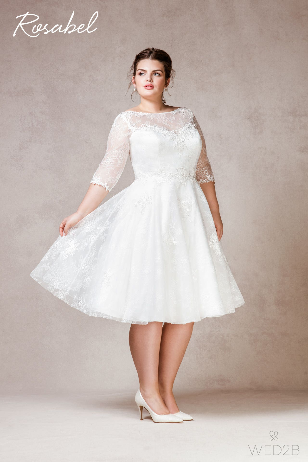 Rosabel plus size wedding dress