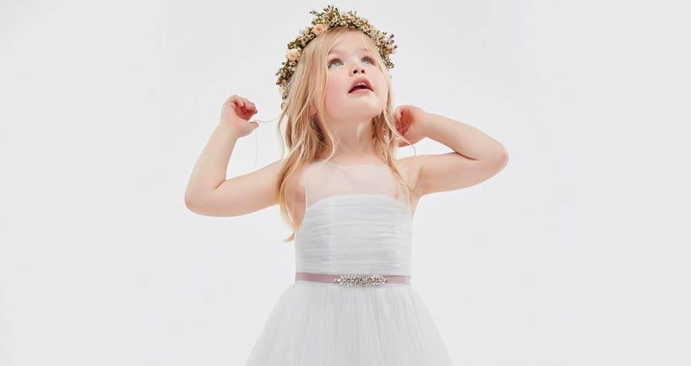 Our adorable Infinite flower girl dresses