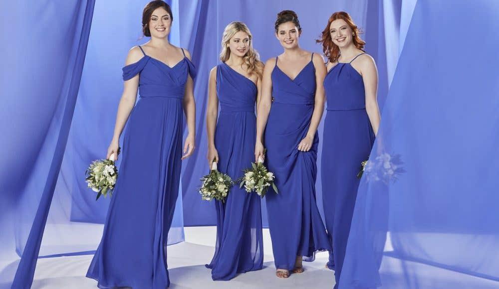 The Edit: Blue Bridesmaid Dresses