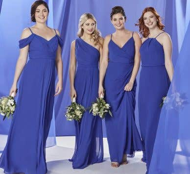 The Edit: Blue Bridesmaid Dresses