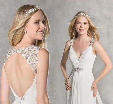 A wedding dress style guide for tall brides
