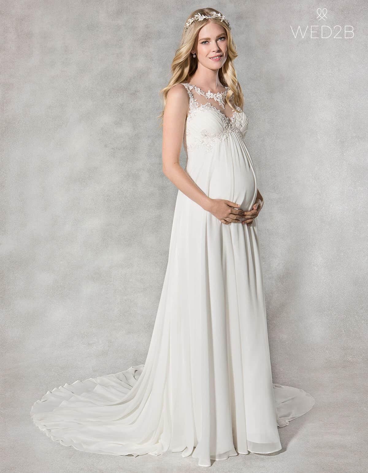83ecae2f2a255 The wedding dress styles guide to… a maternity wedding dress | WED2B ...