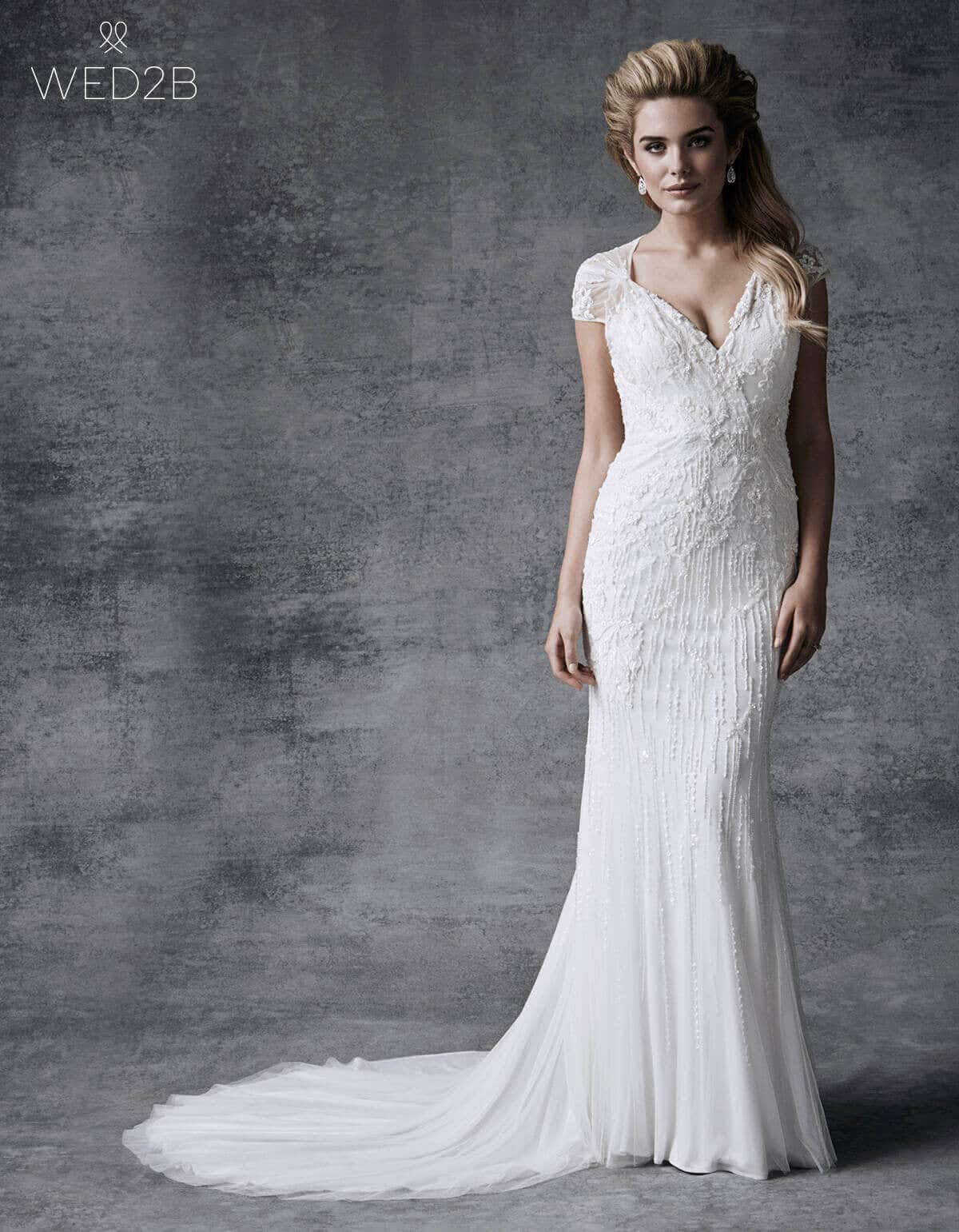 wedding dress shapes sheath and column