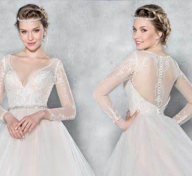 Brand new from Viva Bride… a gorgeous lace sleeved wedding dress!