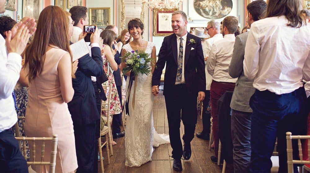 Real Weddings Cambridge: Helen and Christian's heavenly house party