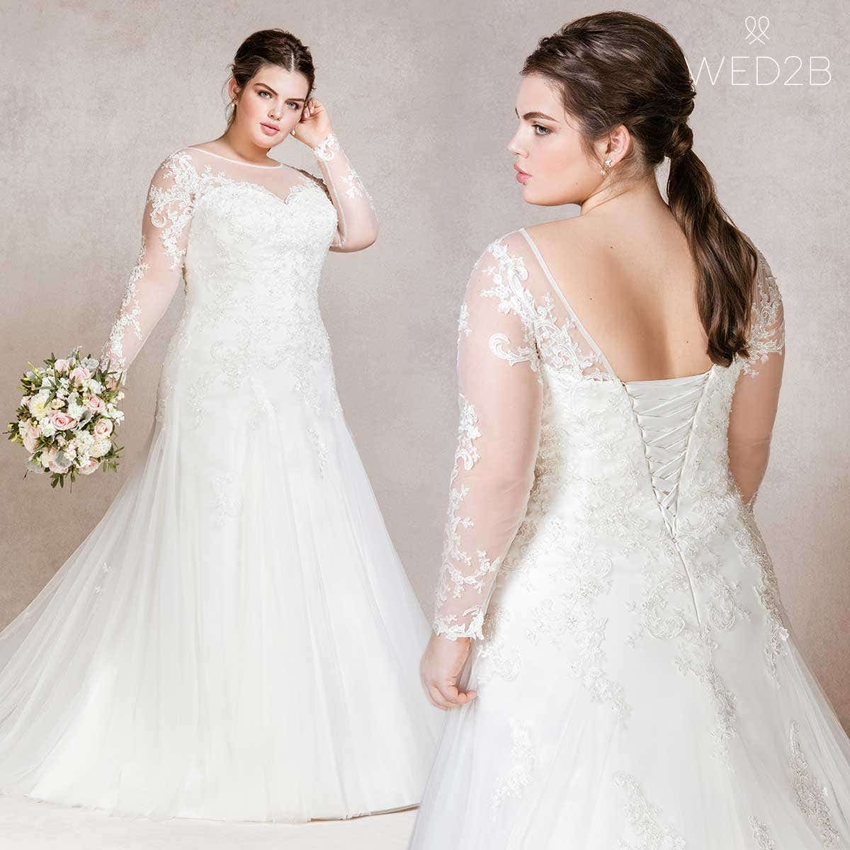Isabelle stunning fit and flare wedding dress