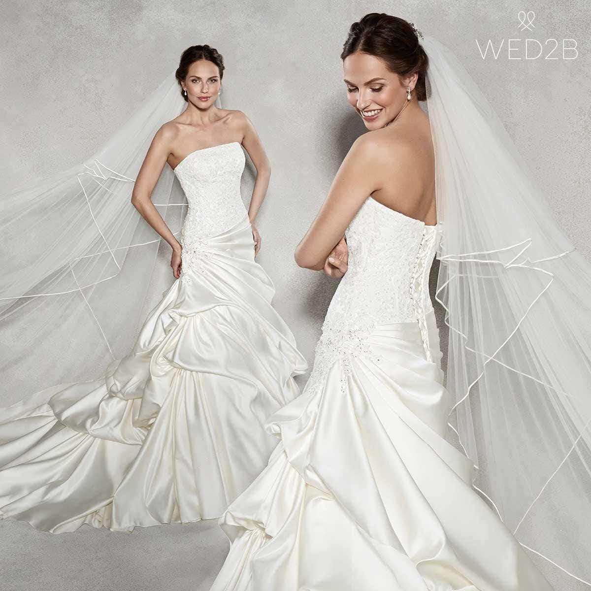 Renata stunning fit and flare wedding dress