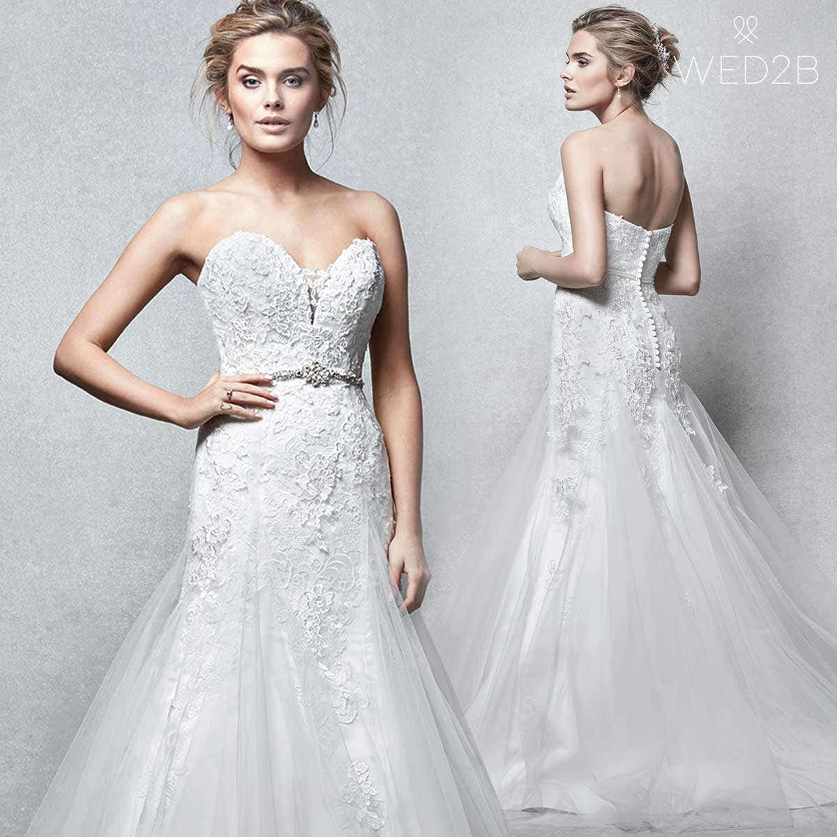 Verity Stunning fit and flare wedding dress