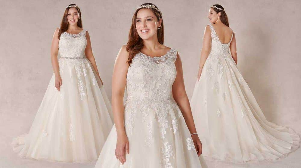 Melrose Our New Plus Size Wedding Dress By Bellami