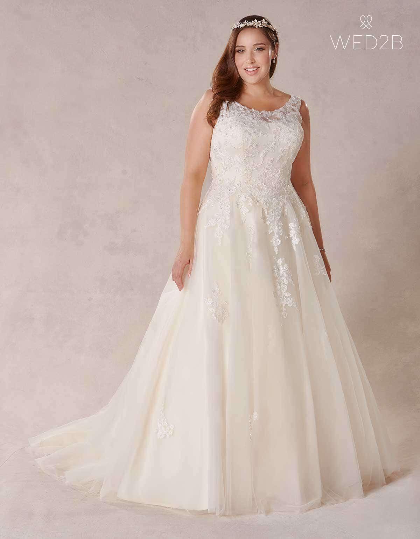 aa06f20f1cd27 A Line Wedding Dresses Uk Plus Size