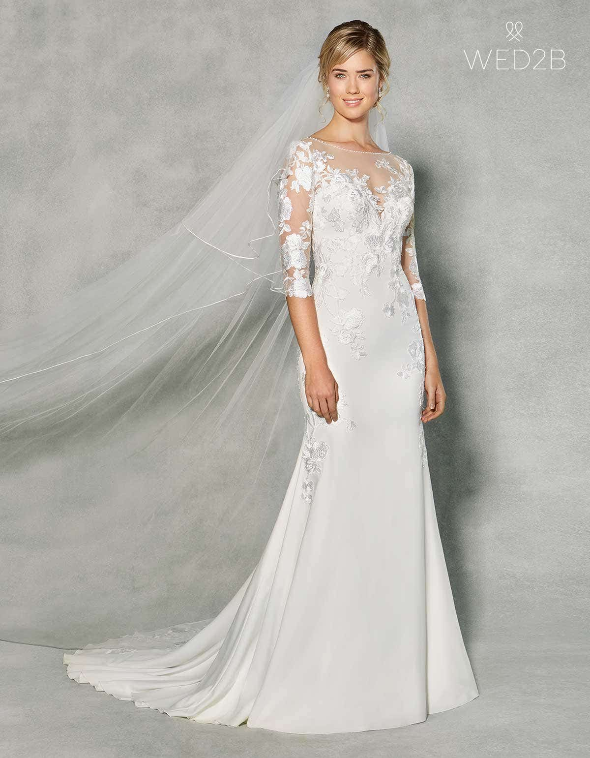 New! A stunning wedding dress with sleeves by Anna Sorrano   WED2B ...