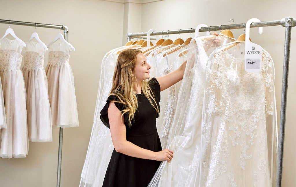 Choose from 4 different styles when wedding dress shopping