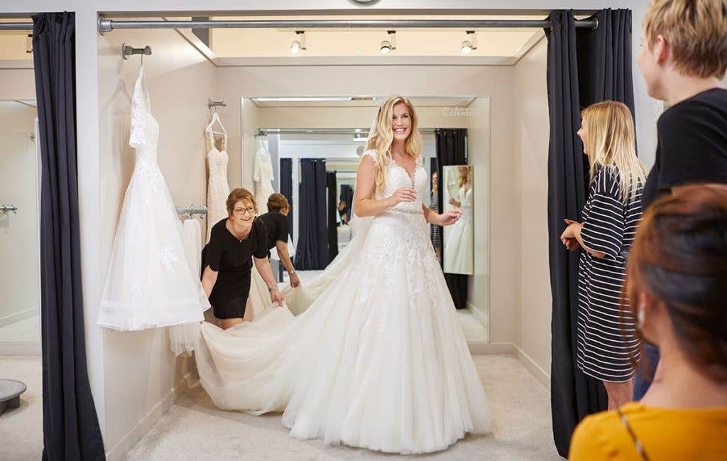Plenty of styles to choose from when wedding dress shopping