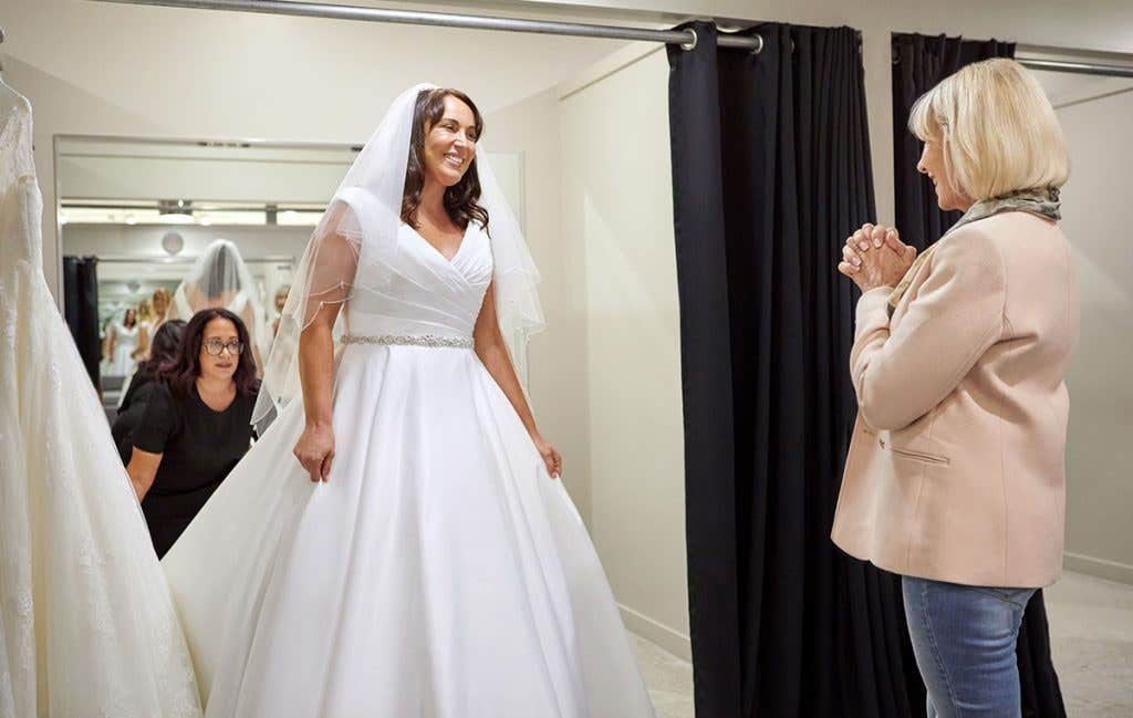 Our bridal consultants making your wedding dress shopping a whole lot easier