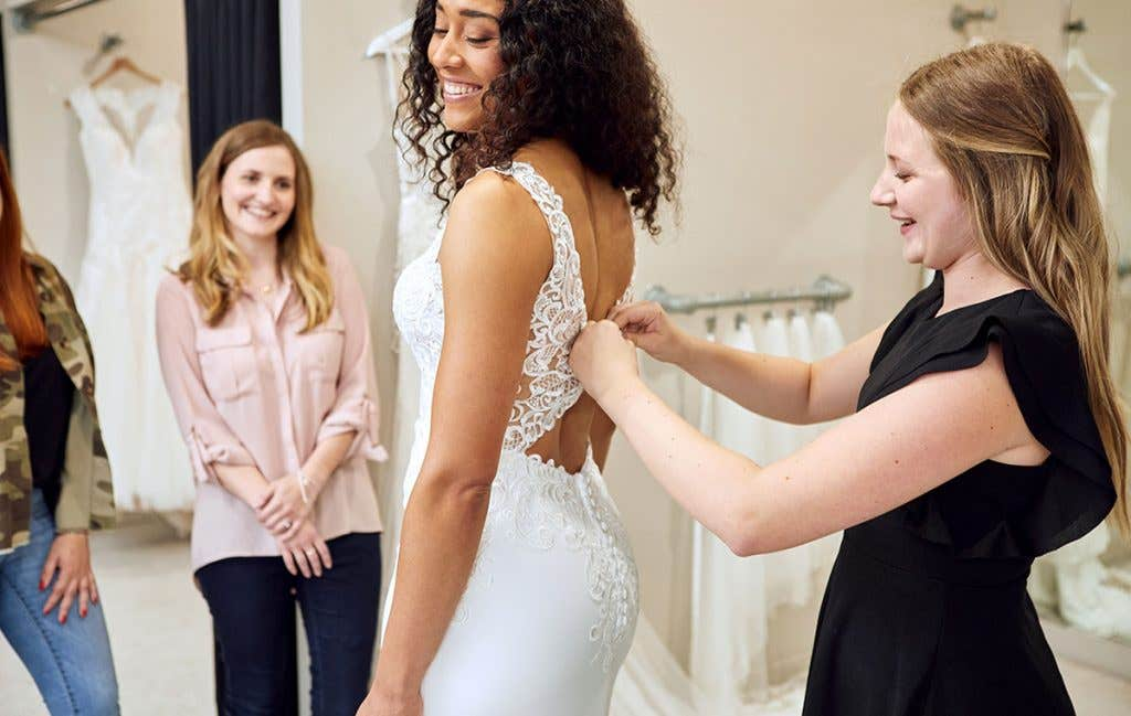 You might only get to go wedding dress shopping once in your life so make the most of it!