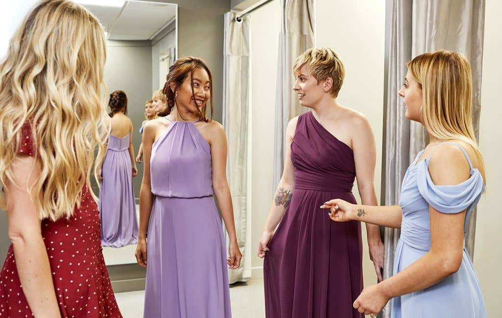 Choose from the huge range of bridesmaid's dress colours when wedding dress shopping