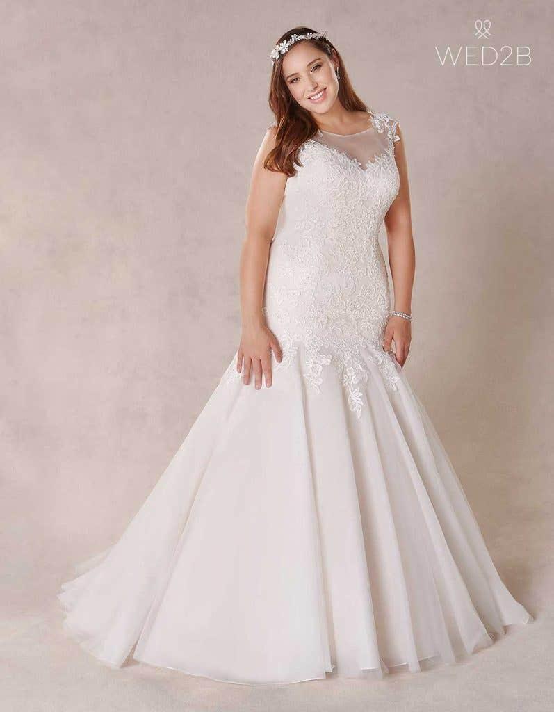 coco plus size wedding dress
