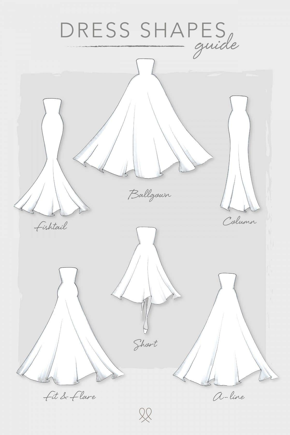 Our essential guide to wedding dress shapes | WED2B-UK-BLOG
