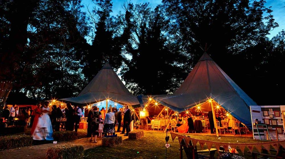 Real Weddings Norwich: Donna and James' teepee paradise