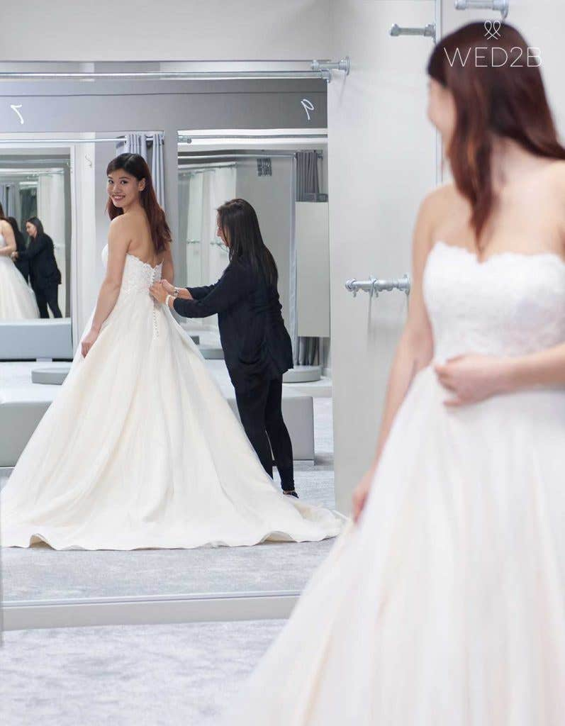 wedding dress shopping at WED2B