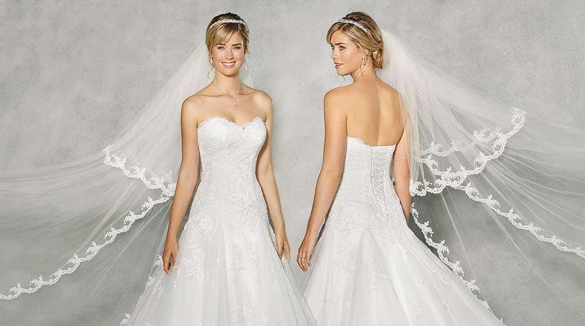We love… long wedding dresses
