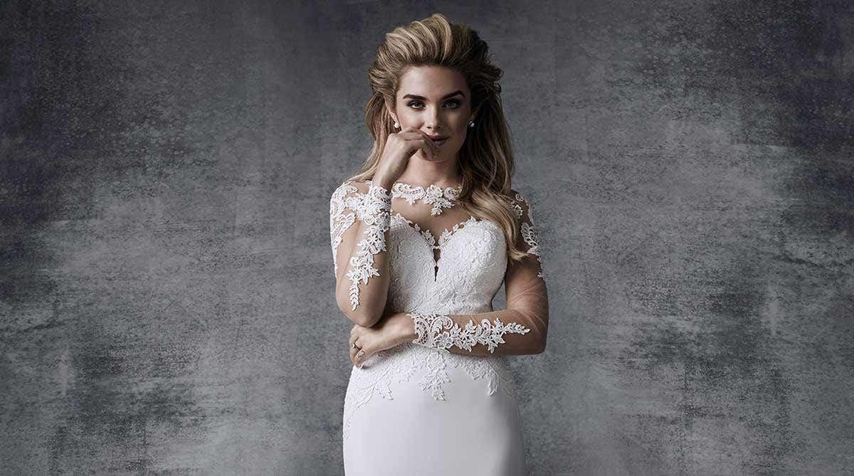 Gorgeous illusion neckline wedding dresses