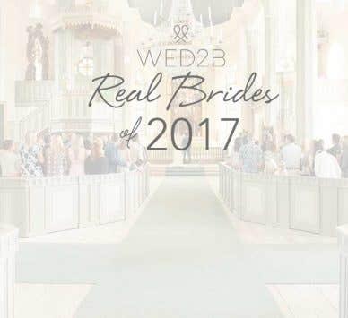 WED2B Real Weddings of 2017