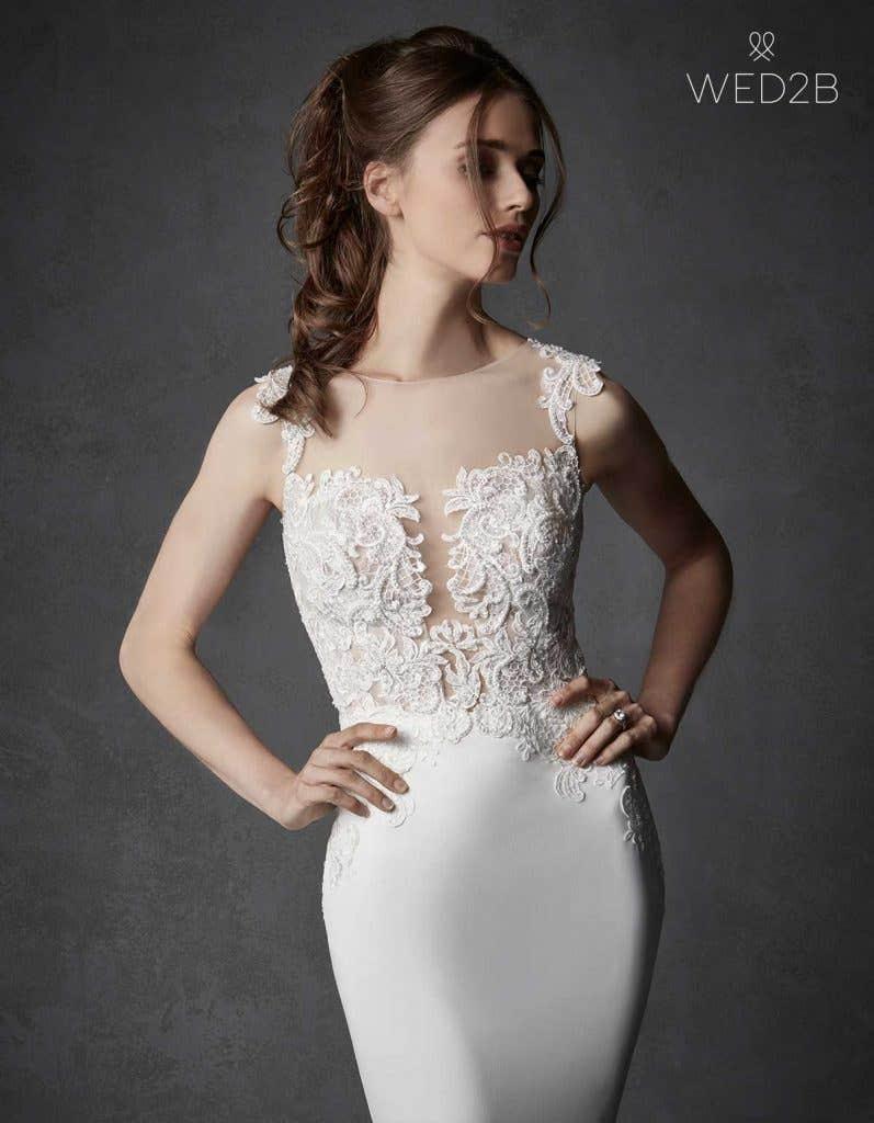 crepe wedding dress - galilea