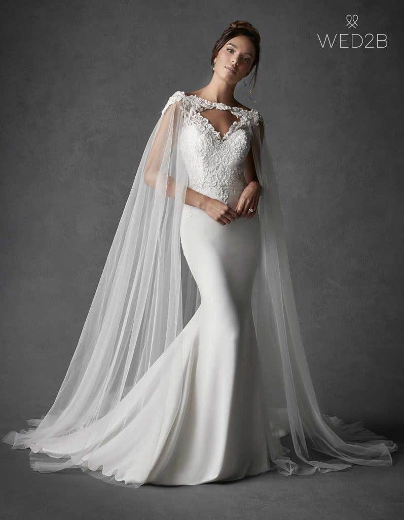 crepe wedding dress - sawyer