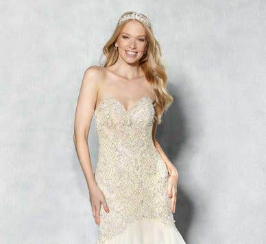 Our pick of the best wedding dresses with beading...