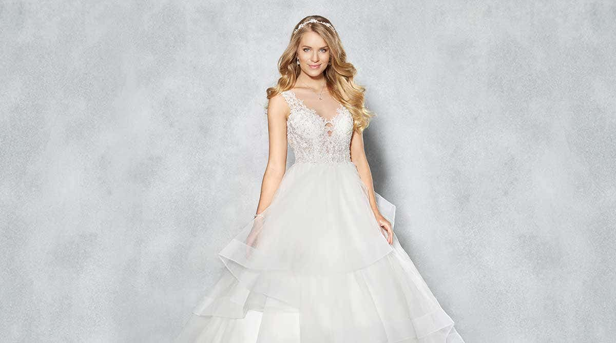 831ffd22ae A guide to tulle wedding dresses   WED2B UK BLOG