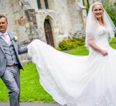 Real Weddings in Surrey: Claire and Tom