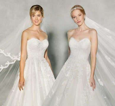 Our favourite sweetheart neckline wedding dresses