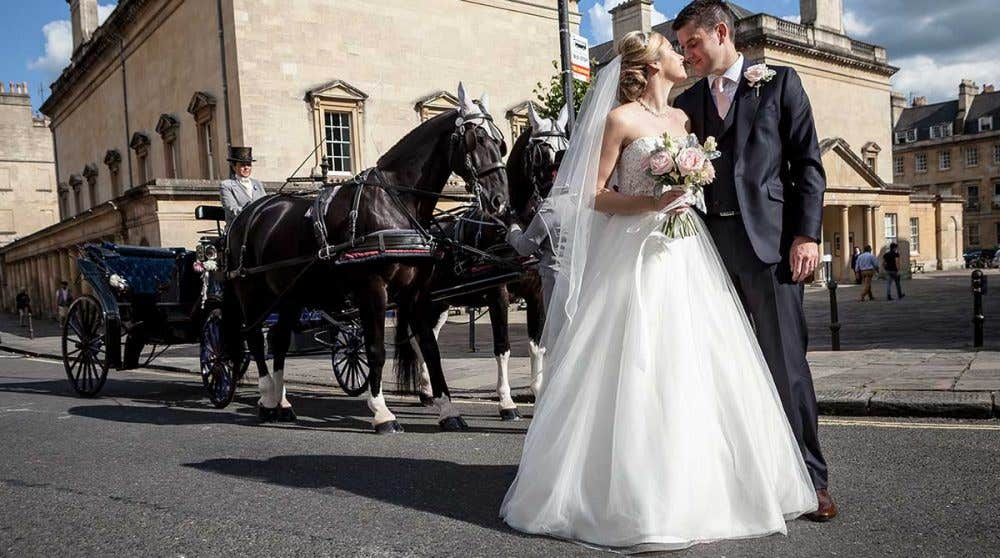 Real Bride Bristol - Jenna and Matt's horse and carriage wedding