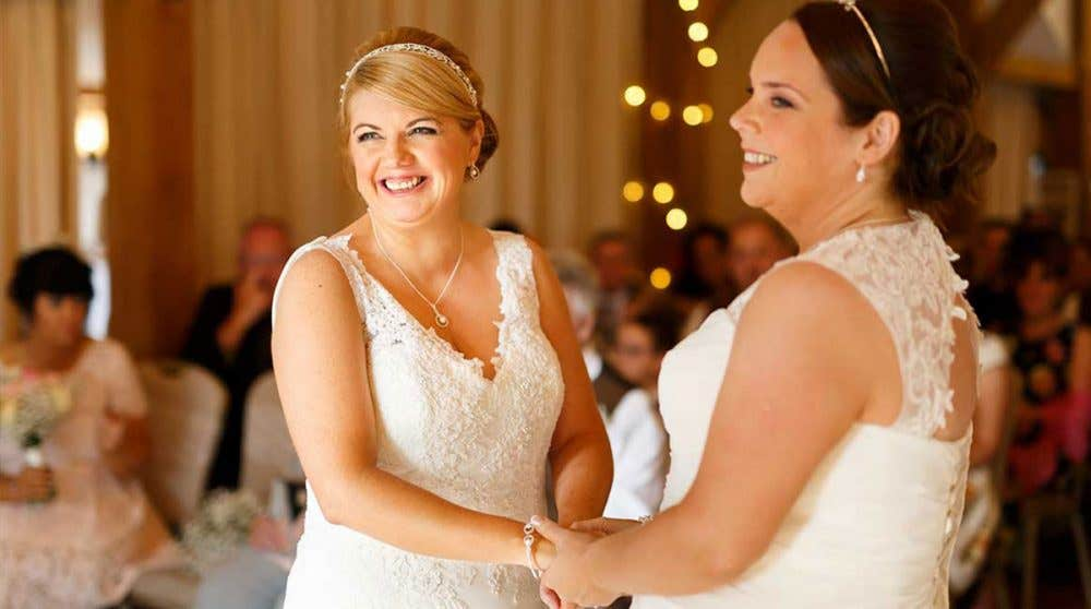 Real Weddings Cheshire: Michelle and Sally's rustic wedding day